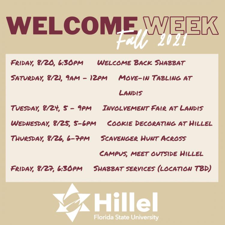 Welcome Week Program
